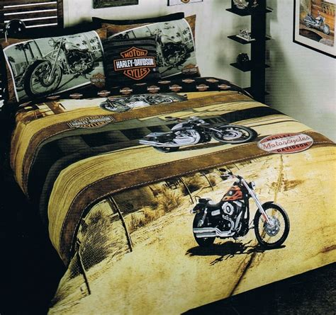 harley davidson bed harley davidson quot harley sunset quot double full bed quilt