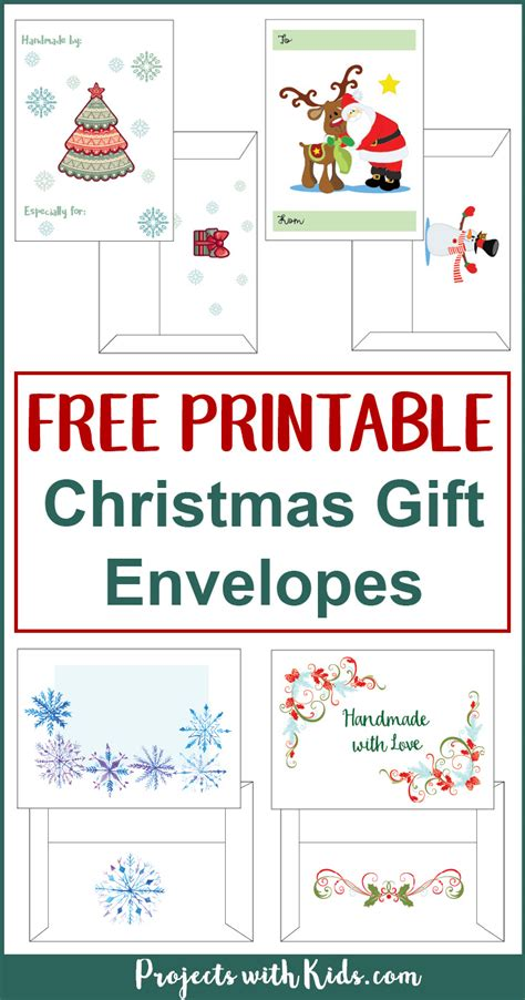 printable christmas cards with envelopes free printable christmas gift envelopes projects with kids