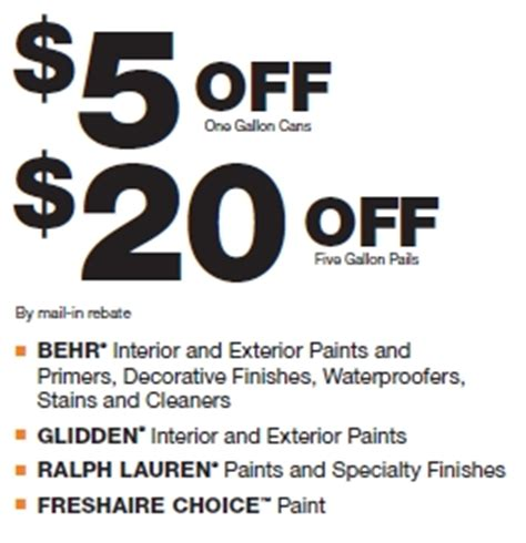 home depot paint printable coupons home depot paint rebate this weekend only my frugal