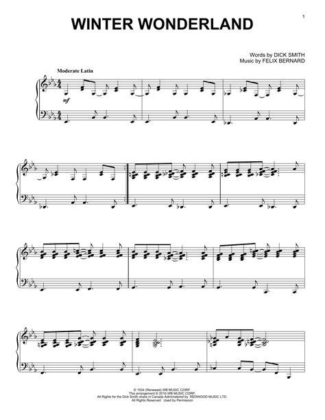 printable lyrics winter wonderland winter wonderland sheet music direct