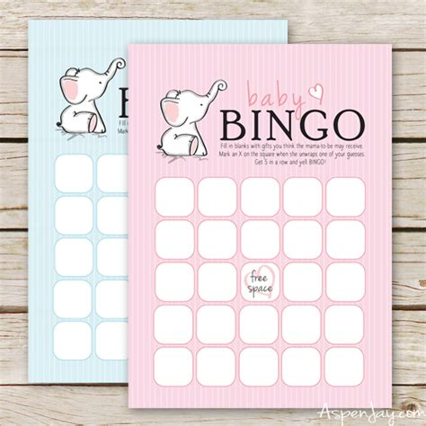 bingo baby shower card template free free baby bingo cards aspen
