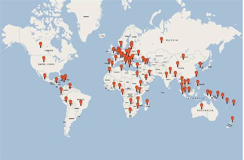 map world locations unilever locations worldwide images