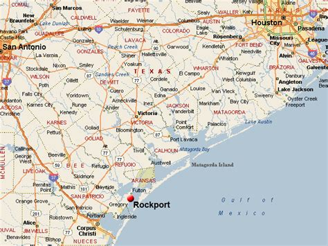 map of texas area rockport map related to real estate listings of homes for sale in aransas county texas
