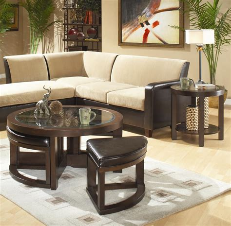 round cocktail table with 4 ottomans homelegance 3219 3219pu 01 round cocktail table with 4