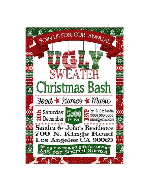 1000 images about ugly sweater party ideas on pinterest