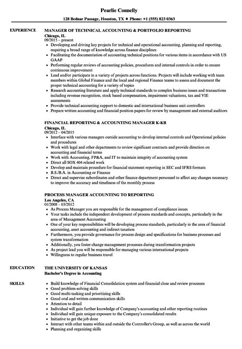Accounting Manager Resume by Reporting Accounting Manager Resume Sles Velvet