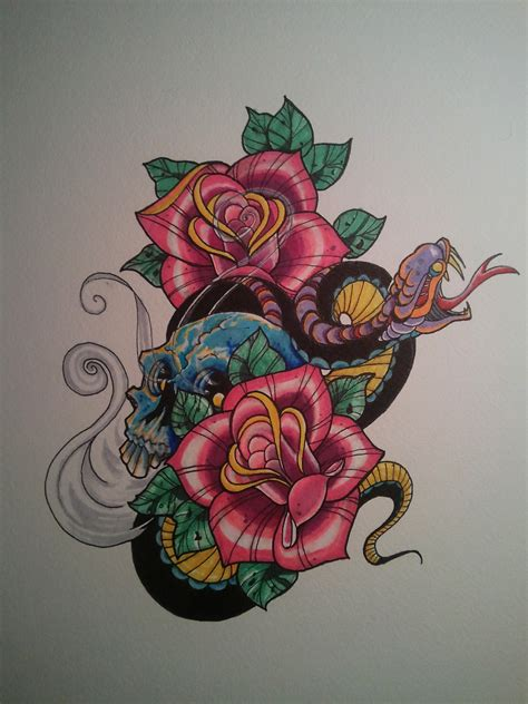 snake tattoo with roses steve gutierrez studies a collection of