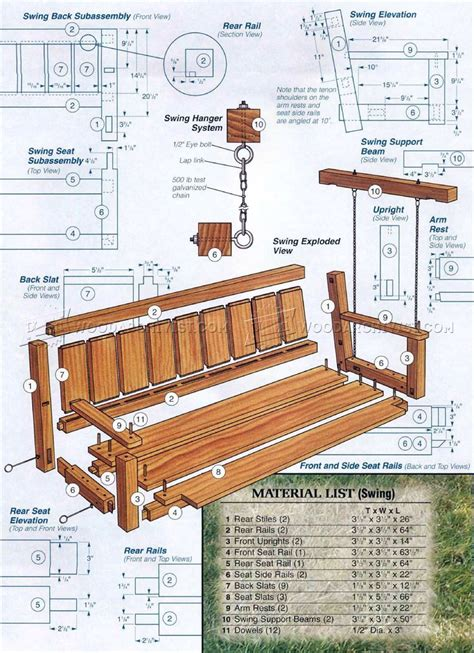 arbor swing plans free outdoor arbor swing plans woodarchivist