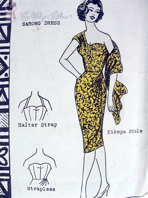 hawaiian sarong dress pattern rare 60s vintage polynesian pattern 108 hawaiian sizzling