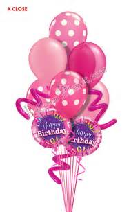 balloon bouquets delivery jumbo twisty dots pink birthday balloon bouquet 9 balloons balloon delivery by balloonplanet