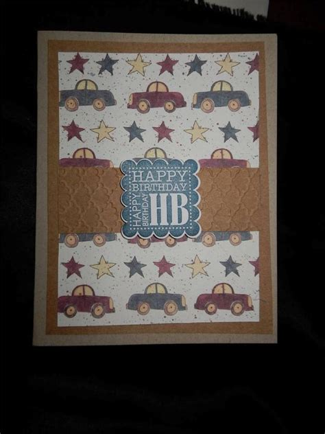 Where Can I Sell My Handmade Cards - handmade car birthday card made with stin up
