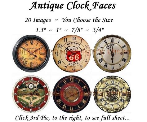 printable 6 inch clock face dae049a antique clock faces i digital collage sheet