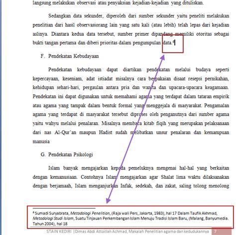 cara membuat footnote pada skripsi contoh footnote dari buku terjemahan contoh club