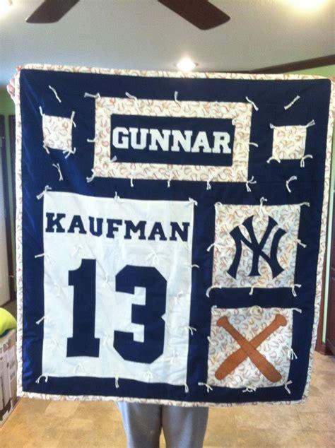 New York Yankees Quilt by Baseball New York Yankee Baby Quilt