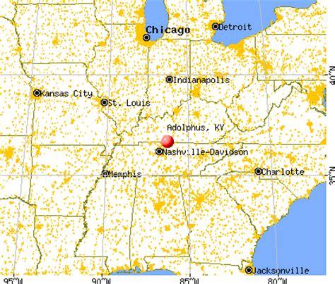 kentucky hospitals map adolphus kentucky ky 42120 profile population maps