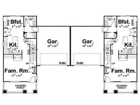 duplex house plans with garage in the middle duplex house plans with garage in the middle home design