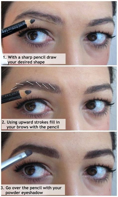 how to fill thin hair lines how to fill in your eyebrows i like this technique
