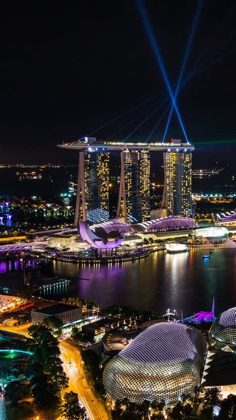 wallpaper singapore marina bay night view architecture