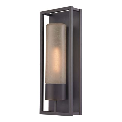 oil l wall sconce cylinder wall sconce in bronze 116 78 destination lighting