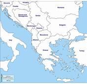 Penisola Balcanica Mappa Gratuita Muta
