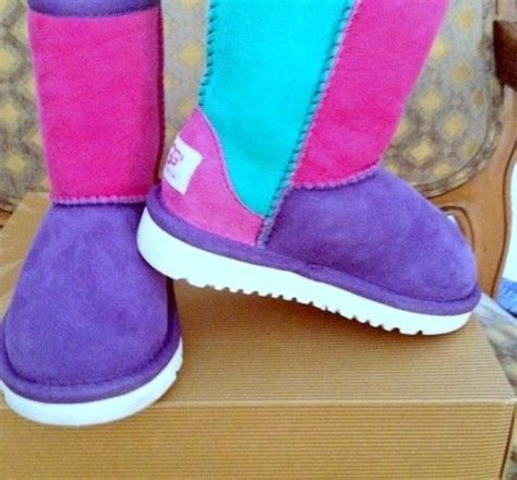 boot colors 2013 ugg color block boots multi color neon patchwork
