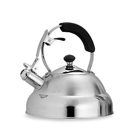 bed bath and beyond kettle saturn 2 8 qt stainless steel whistling tea kettle bed