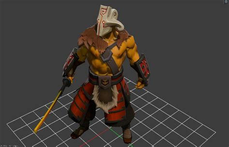 Kaos 3d Dota Juggernaut maxime lebled on quot valve sneaked in a model update for juggernaut in the dota 2 reborn