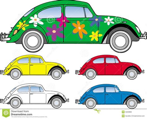 volkswagen beetle clipart vw beetle bug hippie peace love symbols isolated royalty