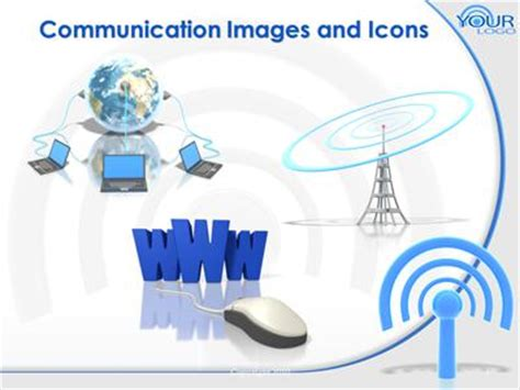 slides for ppt on wireless communication wifi wireless internet symbol a powerpoint template from