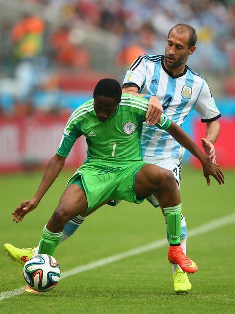 musa nigeria pablo zabaleta and ahmed musa photos photos nigeria v
