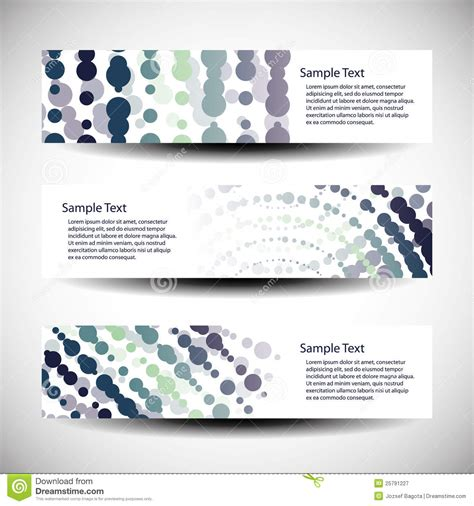 design poster header three abstract header designs stock vector image 25791227