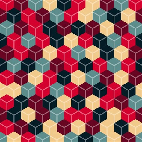 abstract cubes vector background free vector graphics