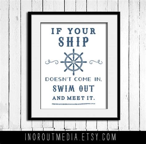 printable nautical quotes swim out to meet it nautical quote 11x14 typography