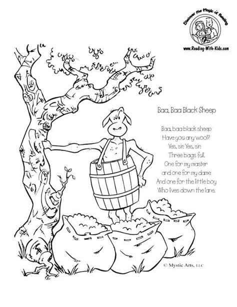 nursery rhyme color pages az coloring pages