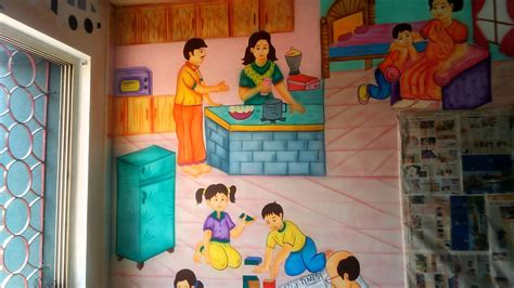 painting for school play school classroom wall theme painting mumbai india