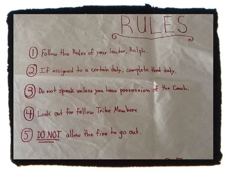 lord of the flies rules theme lord of the flies tribe battle burlington high school