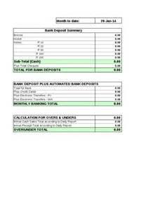 daily banking summary sheet hashdoc
