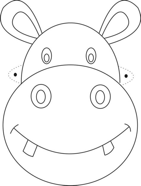 templates for animal masks free printable animal masks templates hippo mask