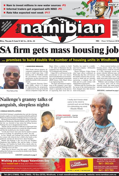 namibian newspaper for today top rated kitchen us