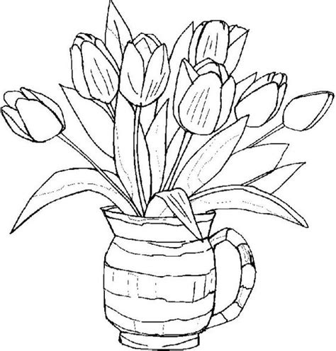 coloring pictures of tulip flowers tulips flower coloring pages day