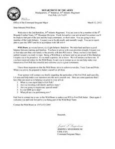 28 army welcome letter template photos of army