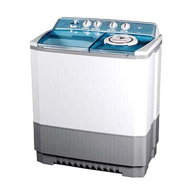 Mesin Cuci Khusus Laundry jual lg mesin cuci 2 tabung p120r putih khusus