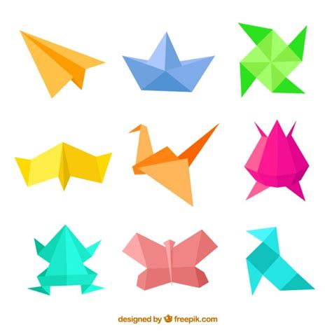 Origami With Pictures - origami figures vector free