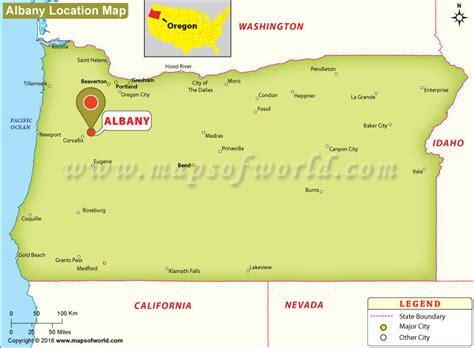 maps albany oregon where is albany oregon