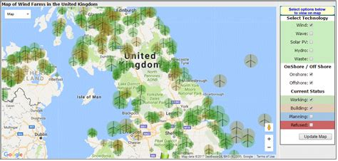 map uk wind farms renewable energy map map of wind farms in the united kingdom