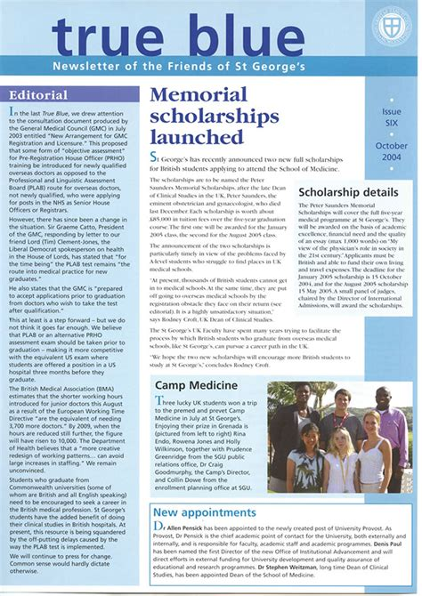 Mba Summer Leadership Program by True Blue Issue 6 St George S