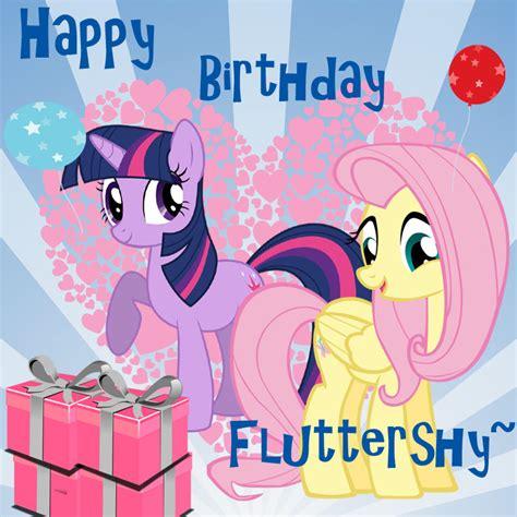 mlp fluttershy happy birthday happy birthday fluttershy by twilightsparkless on deviantart