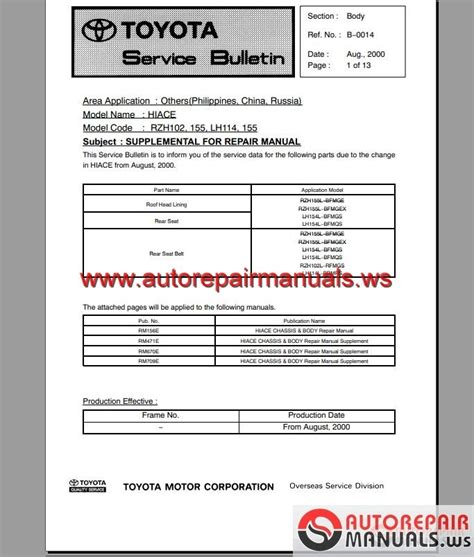 service manual best car repair manuals 2004 toyota tacoma xtra transmission control 2001 toyota hiace 1989 2004 workshop manual auto repair manual forum heavy equipment forums