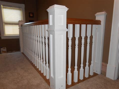 Banister Posts by Newel Posts Balusters And Handrail Install Two Alarm