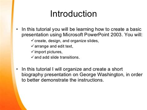 how to create a basic power point presentation